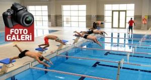 KSÜ Yarı Olimpik Kapalı Yüzme Havuzu açıldı