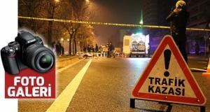 Orta refüjdeki ağaca vurdu, taklalar attı: 1 ölü, 3 yaralı
