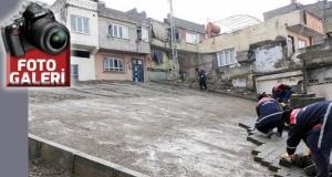 Kahramanmaraş'ta 'sokaklara parke döşeniyor'