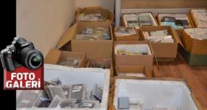 16 bin kaçak cep telefonu parçası ve aksesuarı ele geçirildi