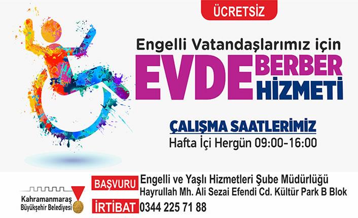 """Büyükşehir'den """"evde berber hizmeti"""""""
