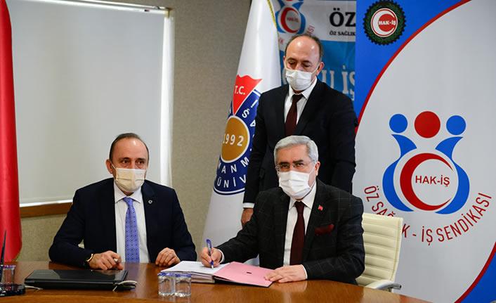 KSÜ ve Öz Sağlık-İş Sendikası Arasında Toplu İş Sözleşmesi imzalandı