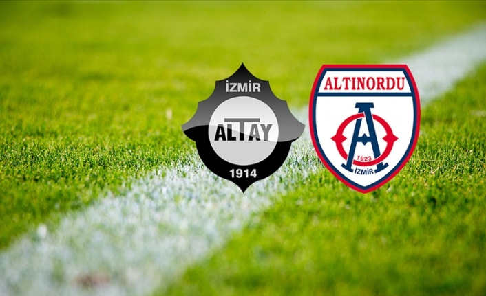 Altınordu ile Altay, Süper Lig için Atatürk Olimpiyat'ta karşılaşacak