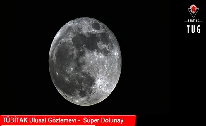 TÜBİTAK'tan 'süper ay'a canlı yayın