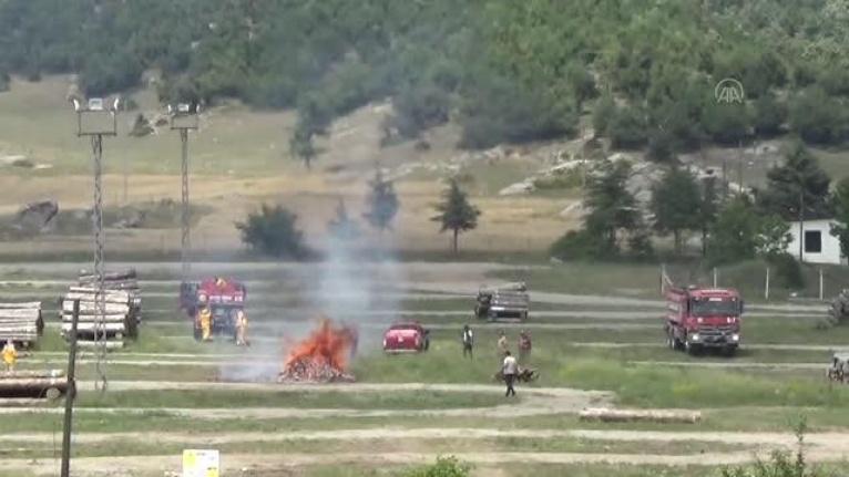 Andırın'da orman yangını tatbikatı yapıldı