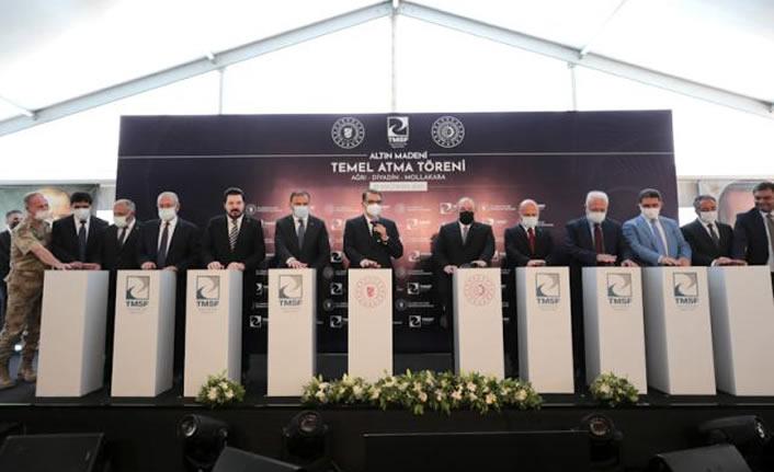 """Diyadin'de 'Altın Madeni Temel Atma Töreni"""" gerçekleştirildi"""