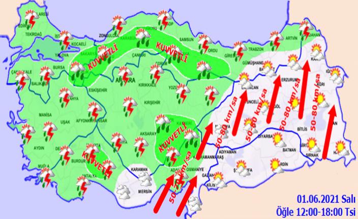 Kahramanmaraş'ın batısında yağış bekleniyor