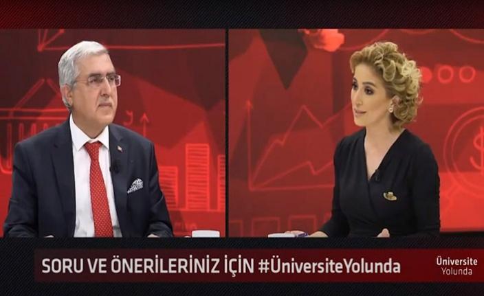Rektör Prof. Can, Üniversite Yolunda Programına katıldı