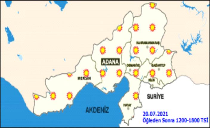 Bugün  sıcaklık en yakın ksek 38 derece olacak!