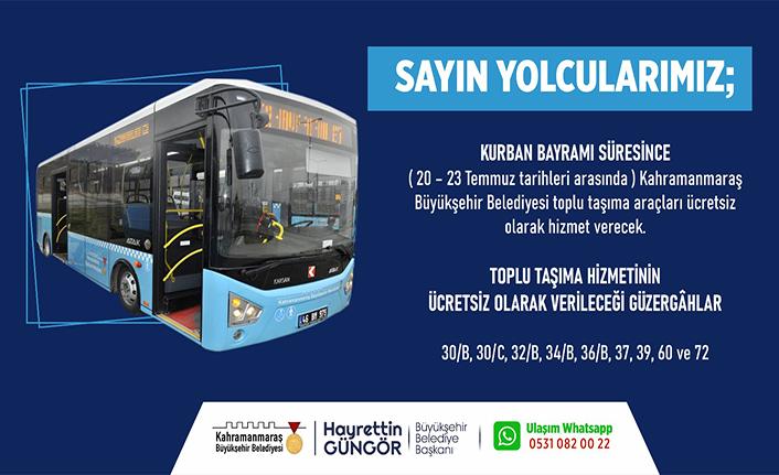 Büyükşehir otobüsleri bayramda ücretsiz