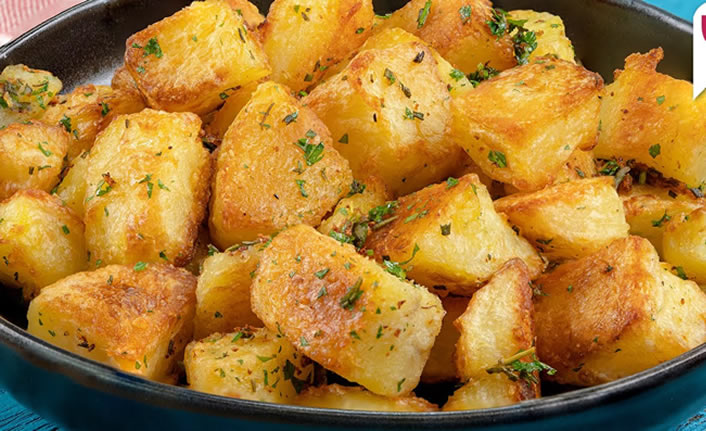 Fırınlanmış haşlama patates