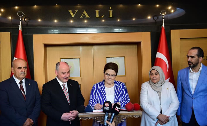 Aile Bakanı Yanık, Vali Coşkun'u ziyaret etti