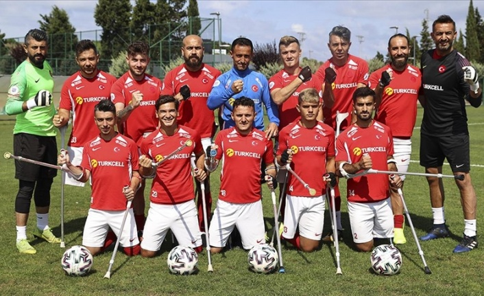 Ampute Milli Futbol Takımı, Avrupa Şampiyonası'ndaki ilk maçına çıkıyor