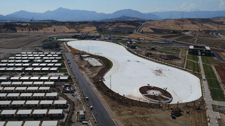 EXPO 2023 alanında bulunan kristal lagüne ilk su verildi