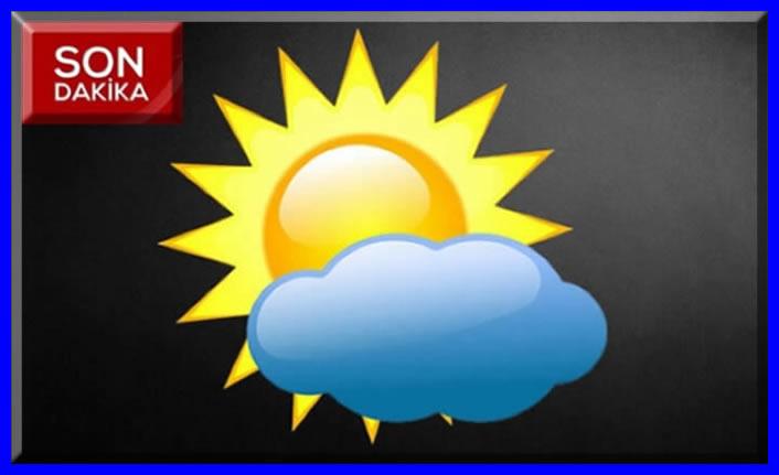 Hava parçalı bulutlu ve açık geçecek!