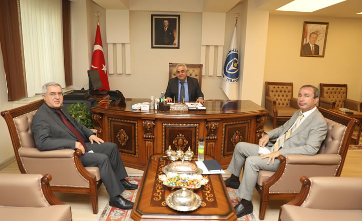KSÜ ve KİÜ rektörleri istişarelerde bulundu