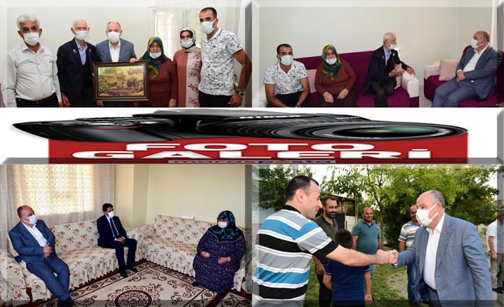 Vali Coşkun'dan gazi ve ailelerine ziyaret