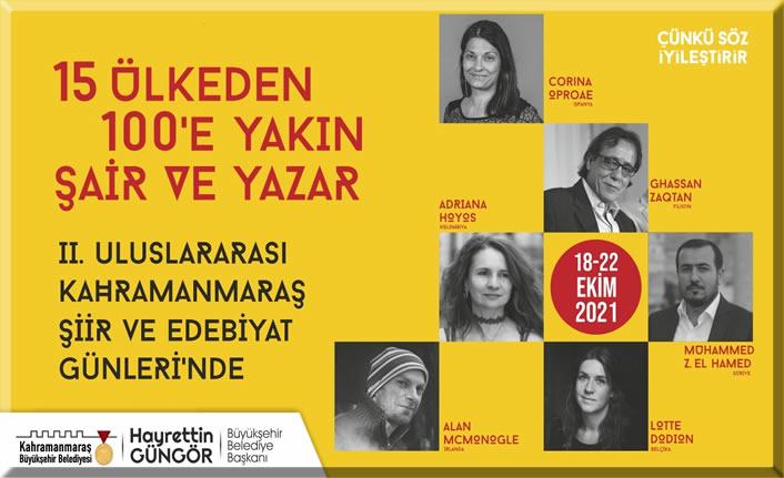 2. Uluslararası Şiir ve Edebiyat Günleri, 18 Ekim'de başlıyor!