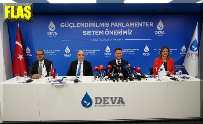 Deva Partisi'nden 'güçlendirilmiş parlamenter sistem'