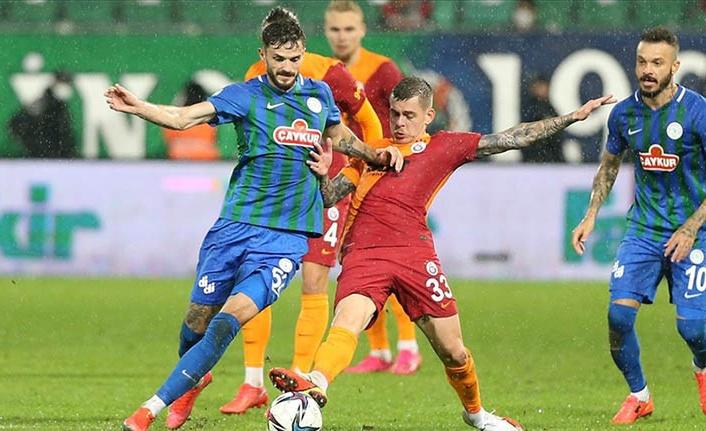 Galatasaray, Rize'de de kazandı