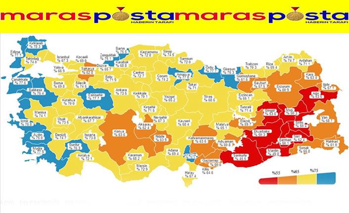 Türkiye'nin batı kıyısındaki şehirler aşılamada maviye boyandı