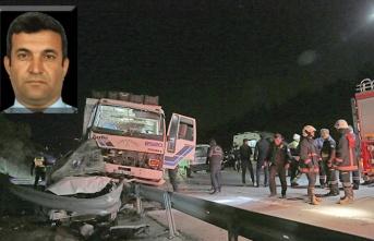 POLİS ARACINA ÇARPAN NARENCİYE KAMYONU 'POLİS'İ ŞEHİT ETTİ