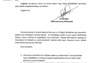 SUSUZ MAHALLELER SORUNU TBMM'YE TAŞINDI!
