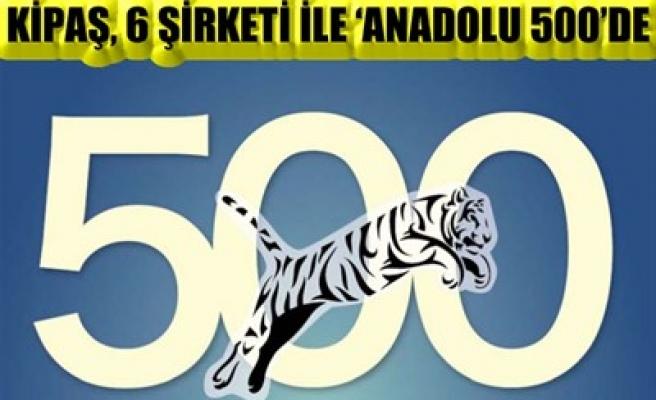 KİPAŞ, 6 ŞİRKETİ İLE 'ANADOLU 500'DE