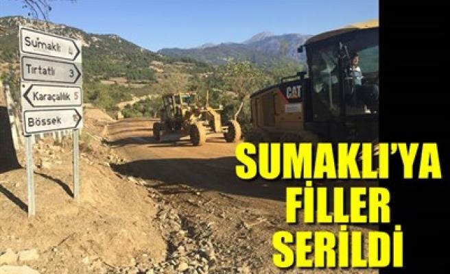 SUMAKLI'YA FİLLER SERİLDİ