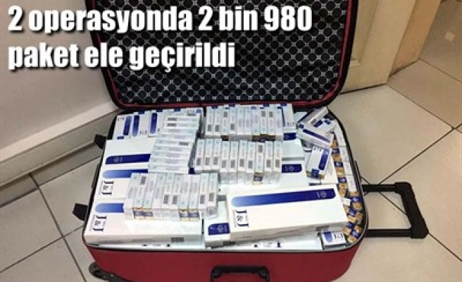 2 OPERASYONDA 2 BİN 980 PAKET ELE GEÇİRİLDİ