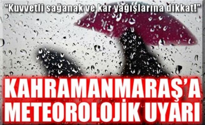 KAHRAMANMARAŞ'A METEOROLOJİK UYARI