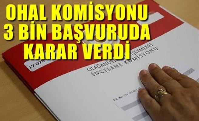 OHAL KOMİSYONU 3 BİN BAŞVURUDA KARAR VERDİ