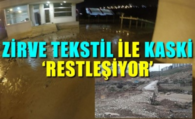 ZİRVE TEKSTİL İLE KASKİ 'RESTLEŞİYOR'