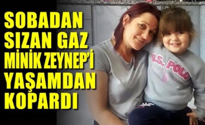 SOBADAN SIZAN GAZ MİNİK ZEYNEP'İ YAŞAMDAN KOPARDI