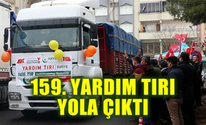 159. YARDIM TIRI YOLA ÇIKTI