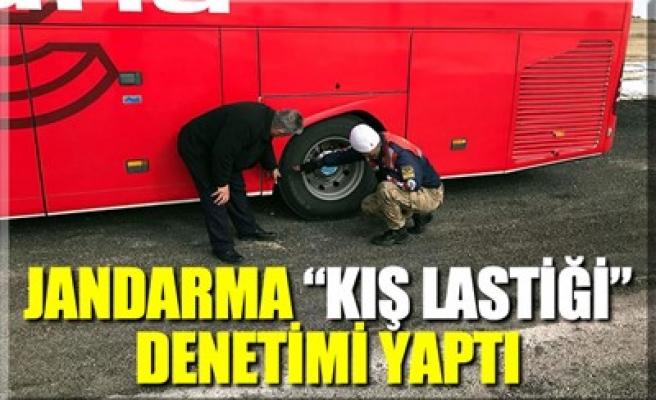 JANDARMA 'KIŞ LASTİĞİ' DENETİMİ YAPTI