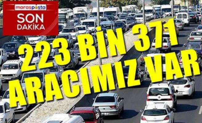 223 BİN 371 ARACIMIZ VAR