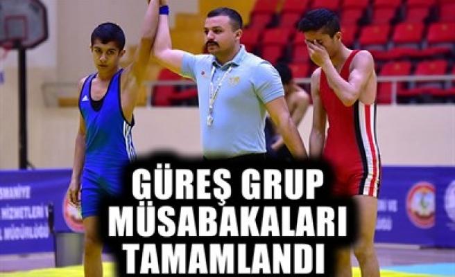 GÜREŞ GRUP MÜSABAKALARI TAMAMLANDI