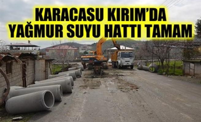 KARACASU KIRIM'DA YAĞMUR SUYU HATTI TAMAM