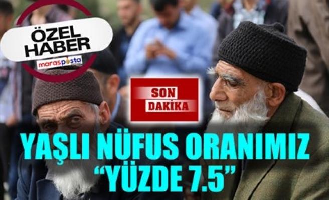 YAŞLI NÜFUS ORANIMIZ 'YÜZDE 7.5'