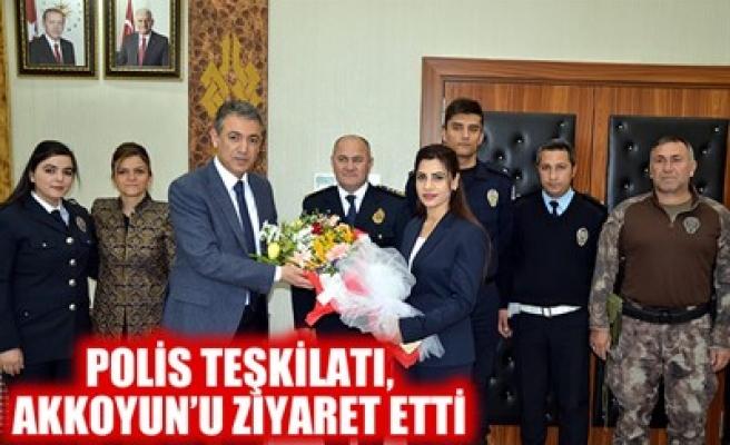 POLİS TEŞKİLATI, AKKOYUN'U ZİYARET ETTİ