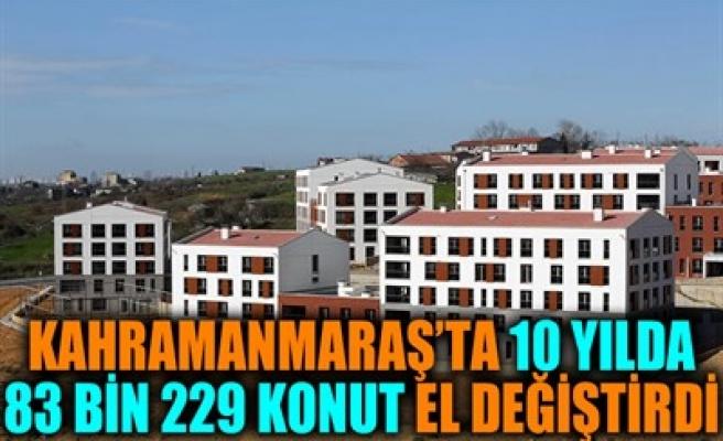 KAHRAMANMARAŞ'TA 10 YILDA 83 BİN 229 KONUT EL DEĞİŞTİRDİ