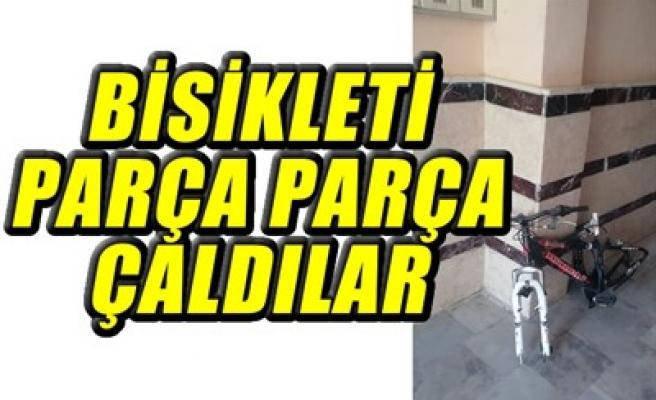 BİSİKLETİ PARÇA PARÇA ÇALDILAR