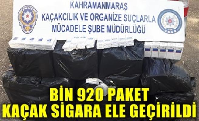 BİN 920 PAKET KAÇAK SİGARA ELE GEÇİRİLDİ