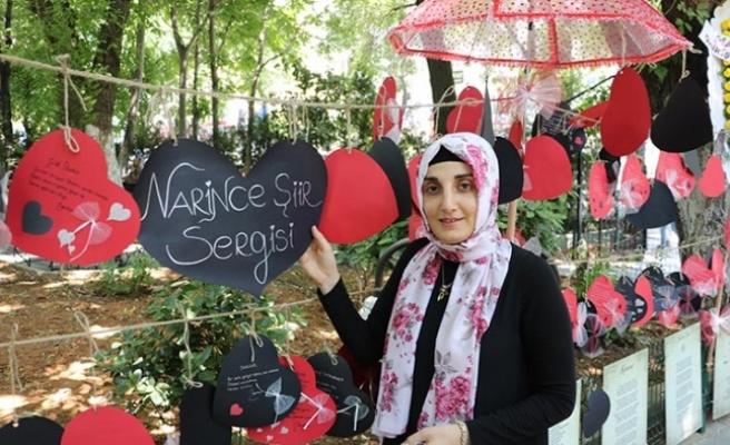Narin Demirci'nin şiirleri sokağa taştı
