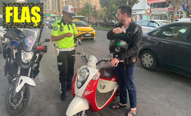 Motosikletler denetlendi; 16'sı trafikten men edildi!