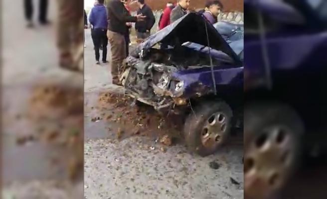 Otomobil devrildi: 2 yaralı