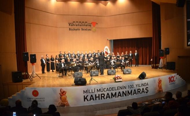 46 kişilik korodan Kahramanmaraş konseri