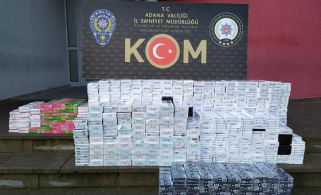 4 bin 590 paket kaçak sigara ele geçirildi