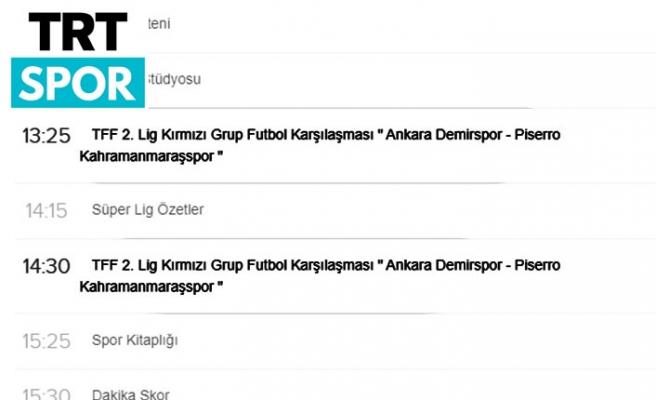 Kahramanmaraşspor, TRT Spor'dan canlı…